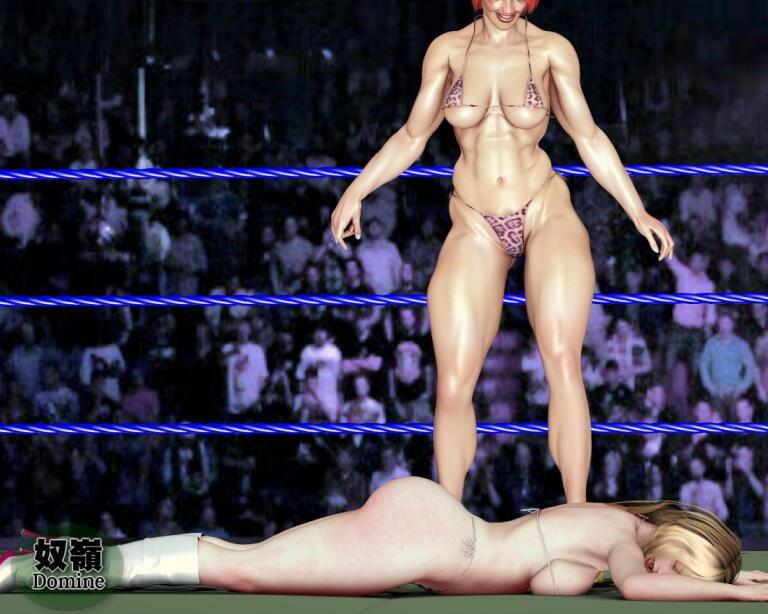 歴然体格差女子プロレス